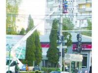 Prima probă a iluminatului public modernizat din Suceava