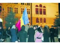 Protest firav, și aseară