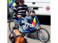 Turul Europei, într-un scaun cu rotile