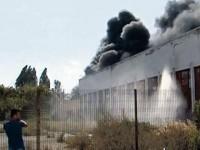 Un incendiu în zona industrială Burdujeni a pus pompierii pe jar